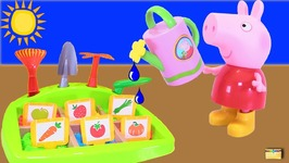 Whos Digging in PEPPA PIGs GARDEN GAME- With Paw Patrol- Surprise Toys - LEARN COLORS Video