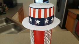 DIY 4TH OF JULY CENTERPIECE  PRINGLES CAN UPCYCLE