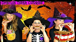 DIY Easy Halloween Treats ??  Vampire Teeth Cookies Recipe  So Yummy!