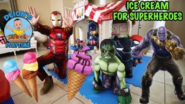 ICE CREAM for SUPERHEROES - PRETEND PLAY - DEION'S PLAYTIME