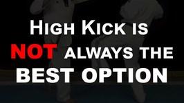 High Kick is NOT always the Best Option - Taekwondo Low Kicks Tutorial