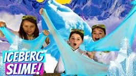 Slime for Kids! Learn How to Make Iceberg Crunchy Slime!