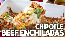 Delicious Chipotle Beef Enchiladas