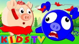 Five Little Piggies - Jumping On The Bed - Nursery Rhymes For Children