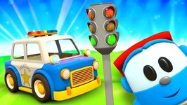 Leo the Truck and A Kids' Police Car- A Police Cartoon for Kids