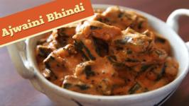 Ajwaini Tamatar Bhindi / Okra In Carom Spiced Tomato Sauce / Divine Taste With Anushruti