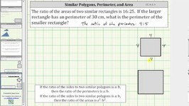 Similar Polygons Find Missing Perimeter Given the Ratio of Areas CC 6 G 1