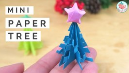 DIY Mini Christmas Tree And Origami Star - Christmas Paper Crafts Tree And Star Tutorial