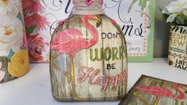 UPCYCLED BOTTLE - DOLLAR TREE CRAFTS - DIY MOD PODGE