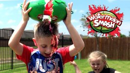 Kids Play Watermelon Smash Challenge Brother Vs Sister Edition