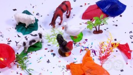 Balloon Popping Show For Learning Farm Animals- Fun Learning For Kids