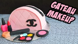 Cake Design - Gâteau Sac Channel Maquillage - Chanel Bag Makeup Cake