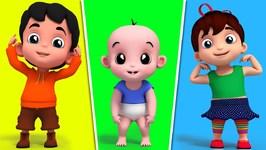 Junior Squad - Head Shoulder Knees And Toes - Nursery Rhymes - Kids Songs - 3D Rhymes