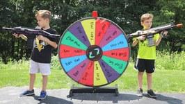 Nerf War - The Mystery Wheel Showdown