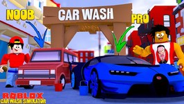 ROBLOX CAR WASH SIMULATOR - DONUT WASHES ALL THE PRO CARS WHILE ROPO ONLY WASHES NOOB ONES!!
