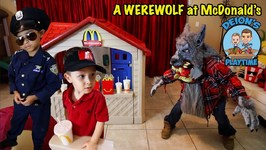 A WEREWOLF AT McDONALD'S - FUN SKIT - DEION'S PLAYTIME
