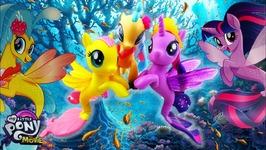 My Little Pony - The Movie Glitter and Style Seapony Princess Skystar Fluttershy Twilight Sparkle