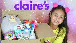 Huge Claires Haul Box For Tiana Filled With LOL Surprise Dolls and Squishy Toys