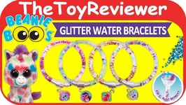 Ty Beanie Boos DIY Glitter Water Bracelet Kit Craft Plush Unboxing Toy Review