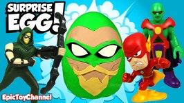 Surprise Eggs Justice League Action Green Arrow Surprise  Teen Titans Go And Lego Batman Movie Toys