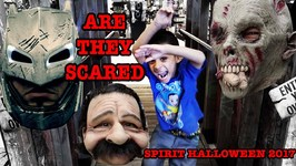 WILL THEY BE SCARED at Spirit Halloween 2017