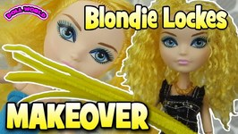 Ever After High Doll Makeover Blondie Lockes How to Curl Doll Hair