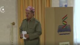 Iraqi-Kurdistan President Barzani Votes in Independence Referendum