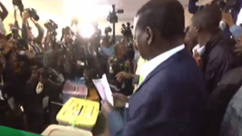 Main Opposition Candidate Votes in Kenyan Presidential Election