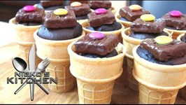 Chocolate Cake Ice Cream Cones