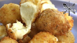 One Bite Deep Fried Cheese Bombs