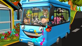 Blue Wheels on the Bus - Kindergarten Songs and Nursery Rhymes for Kids