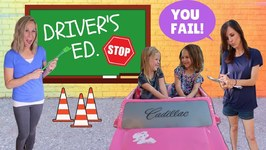 Addy and Maya Take Drivers Ed at Toy School !!!
