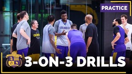 Lakers Practice - 3 on-3 Drills - Ivica Zubac, Thomas Bryant, Josh Hart