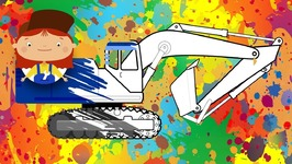 Doctor McWheelie and Excavator- Car Cartoons for Kids and Children Cartoons- Learn Colors- Car Animation