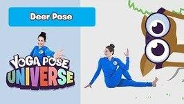 Deer Pose - Yoga Pose Universe