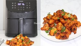 No Fry Gobi (Cauliflower) Manchurian Video Recipe With Cosori Air Fryer XL