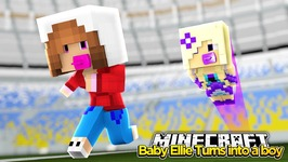 Minecraft Little Kelly : BABY ELLIE TURNS INTO A BOY! w/Baby Angel!