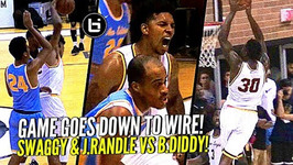 Nick Young And Julius Randle vs Baron Davis at The Drew Ankles Get Broken And Rim Gets Punished