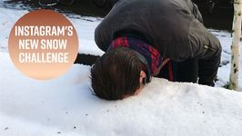The trippy snow challenge sweeping Instagram