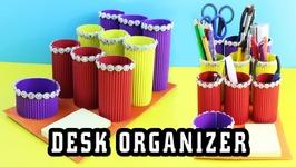 DIY Corrugated Cardboard Desk Organizer - Easy Cardboard Crafts