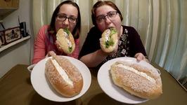 Salmon Burgers And Cream Puffs / Gay Family Mukbang - Eating Show