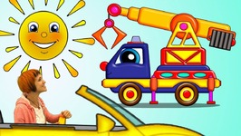 Helpy the Truck - Cartoons for Children with Truck Transformer. Saving Kitten. Crane Truck Cartoon.