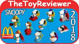 2018 Snoopy Peanuts Happy Meal McDonalds COMPLETE SET 10 Unboxing Toy Review
