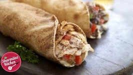 Homemade Chicken Shawarma Roll - Egg Shwarma Wrap - Arabic Shwarma