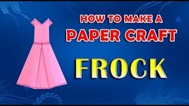 Paper Craft Frock - Paper Folding Crafts For Kids - How To Make A Paper Frock