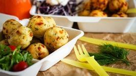 Mini Polenta Appetizers Balls - Summer Party Food (Vegan And Gluten Free)