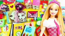 35 EASY DIY FUN BARBIE DOLL SCHOOL SUPPLIES AND ACCESSORIES