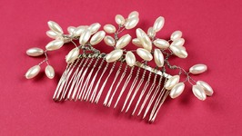 DIY Pearl Beaded Hair Comb