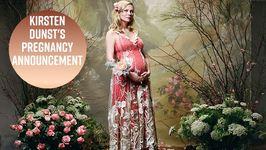 Kirsten Dunst Reveals Baby Bump In Rodarte Campaign