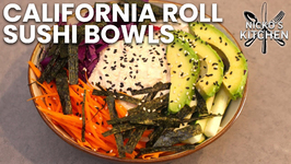 California Roll Sushi Bowls / Low Carb - Keto / California Roll In A Bowl
